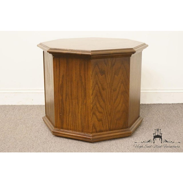 Wood American of Martinsville Octagonal Storage End Table For Sale - Image 7 of 10