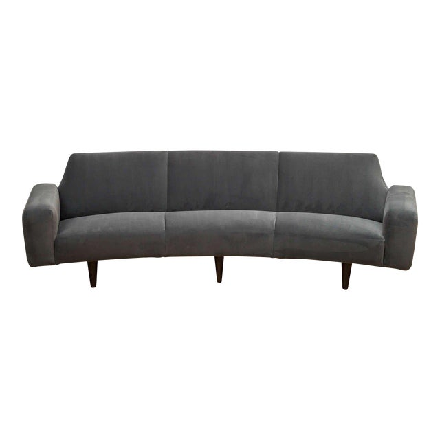 Illum Wikelso Curved Danish Sofa For Sale