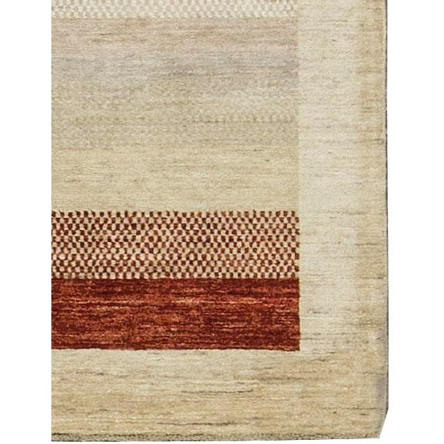 "Boho Chic Contemporary Hand Woven Rug 4'2"" X 6'2"" For Sale - Image 3 of 4"