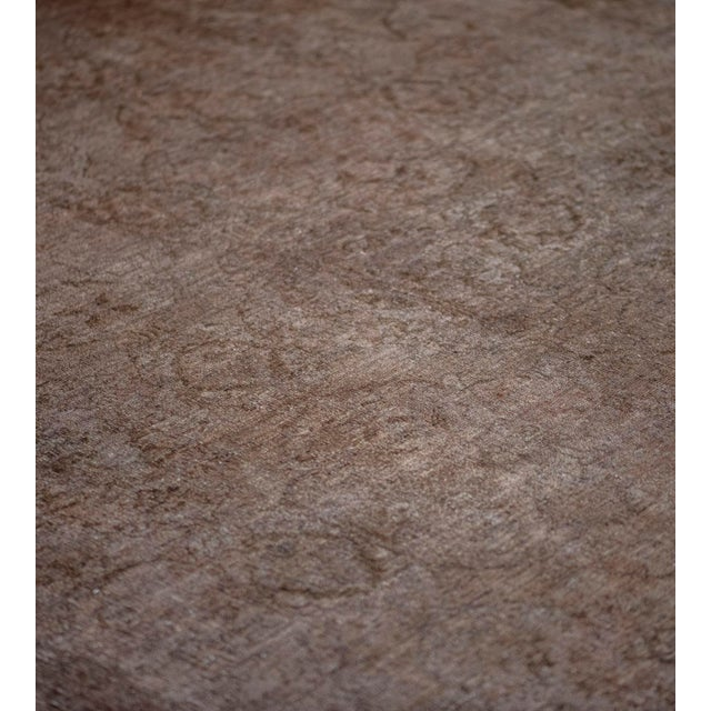 MANSOUR Handwoven Wool Agra Style Rug For Sale - Image 4 of 8