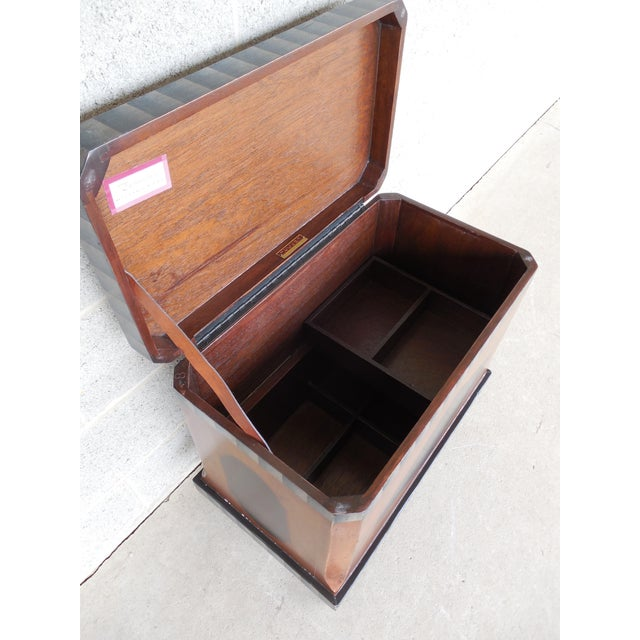 """Baker Furniture Company Baker Milling Road Paint Decorated Storage Box 24""""w X 23""""h For Sale - Image 4 of 11"""