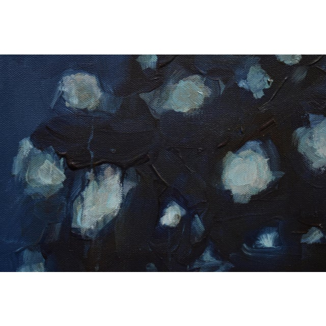 "Stephen Remick Stephen Remick ""Magnolia in Moonlight"" Contemporary Abstract Painting For Sale - Image 4 of 10"