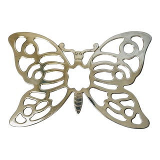 Leonard Silverplate Butterfly Trivet For Sale