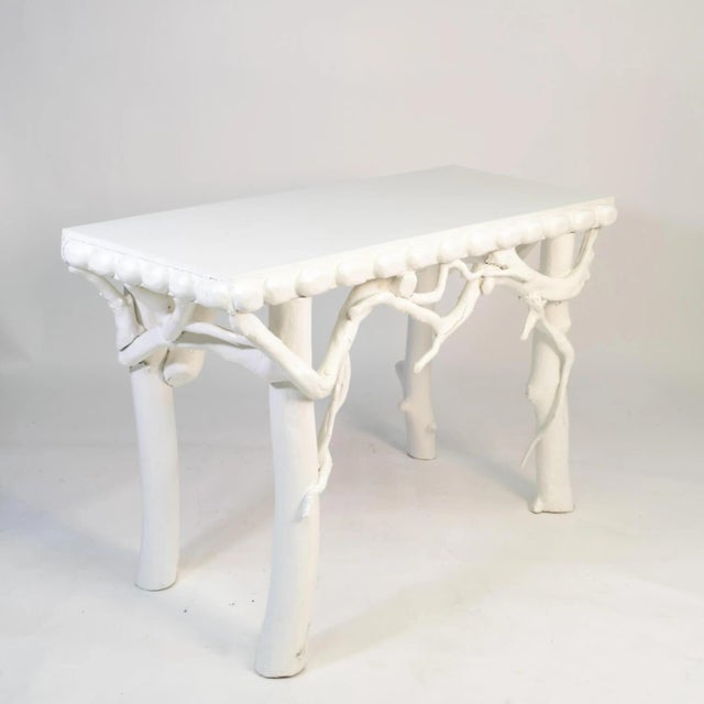 Beautiful Lacquered console with natural root elements. Would add a unique vintage flare to an oceanside home. This piece...