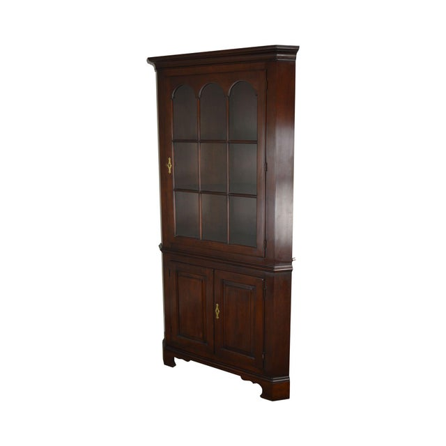 Statton Old Towne Cherry Traditional Corner Cabinet For Sale - Image 12 of 12