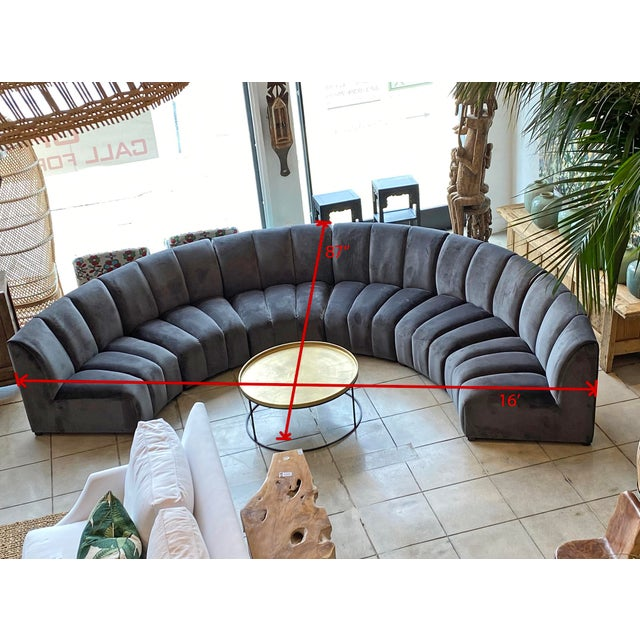 Slate Gray Centipede Sofa For Sale - Image 10 of 11