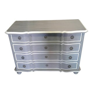 Antique Gray Dresser With Serpentine Front
