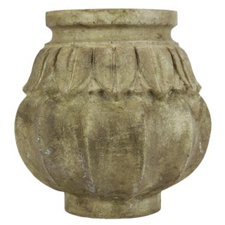 Large Brown Lian Marble Vase