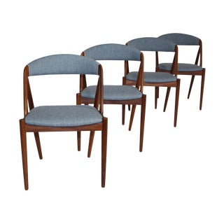 Set of 4 Danish Modern Chairs by Kai Kristiansen For Sale