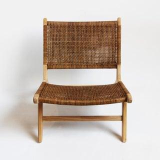 Modern Teak & Wicker Easy Chair Preview