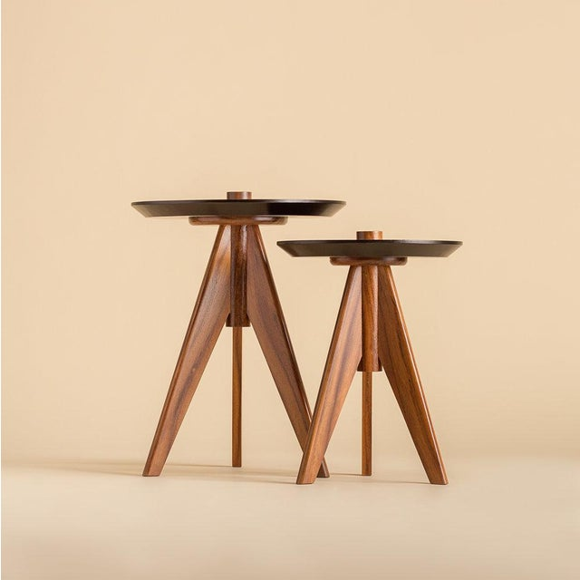 Modern Ebb and Flow Elle Accent Tables - Set of 2 For Sale - Image 3 of 3