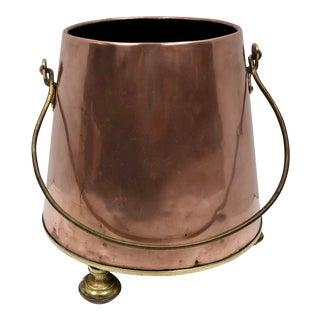 Vintage Copper Planter For Sale