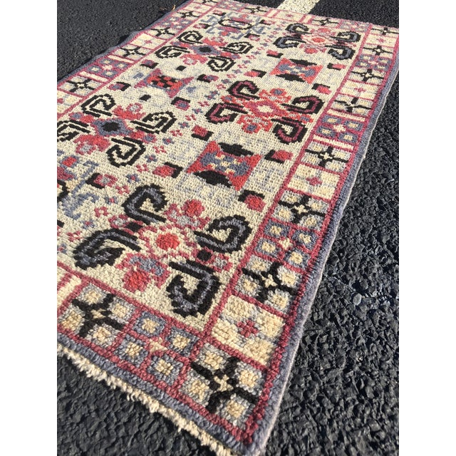 Textile Vintage Turkish Anatolian Small Area Rug - 2′4″ × 4′ For Sale - Image 7 of 11