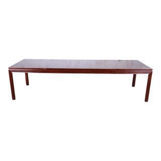 John Widdicomb Mid-Century Modern Walnut Extension Dining Table, Newly Restored For Sale