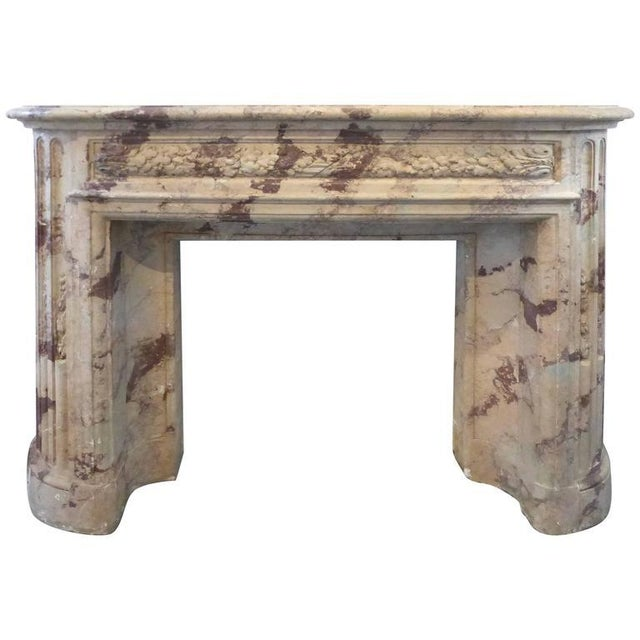 Turn of the Century Italian Terracotta Faux-Marble Fireplace For Sale - Image 11 of 11