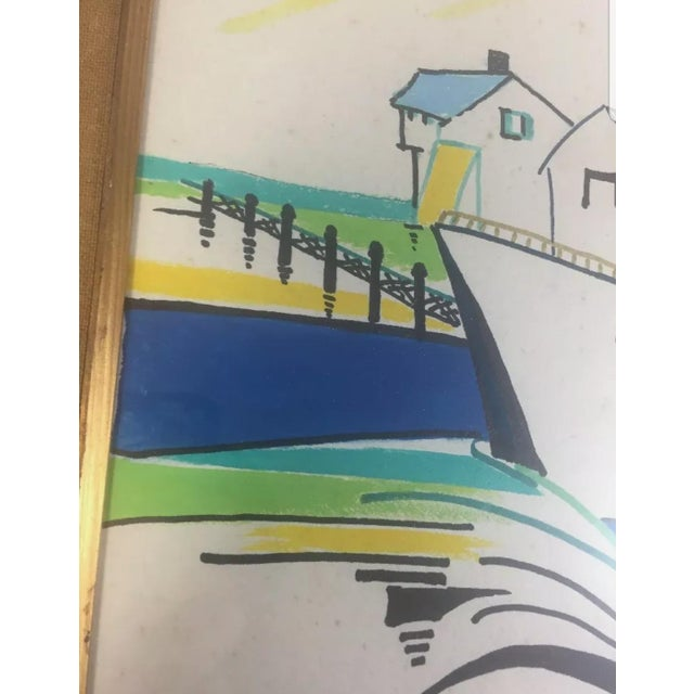 1960s Nautical Watercolor Painting by Ralston Crawford, Framed For Sale - Image 4 of 9
