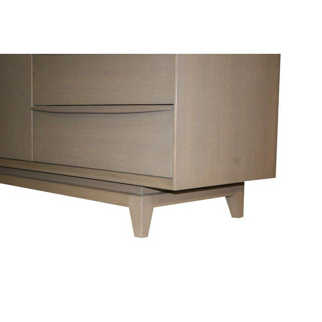 Walnut Customizable Orlando Sculpted Handle Credenza For Sale - Image 7 of 10