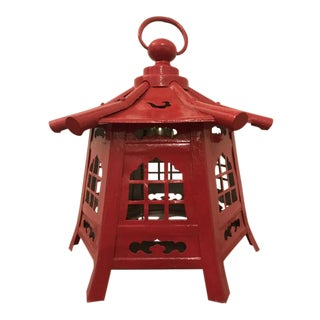 Chinese Red Pagoda Lantern For Sale