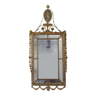 Adam Style Rectangular Giltwood Mirror For Sale