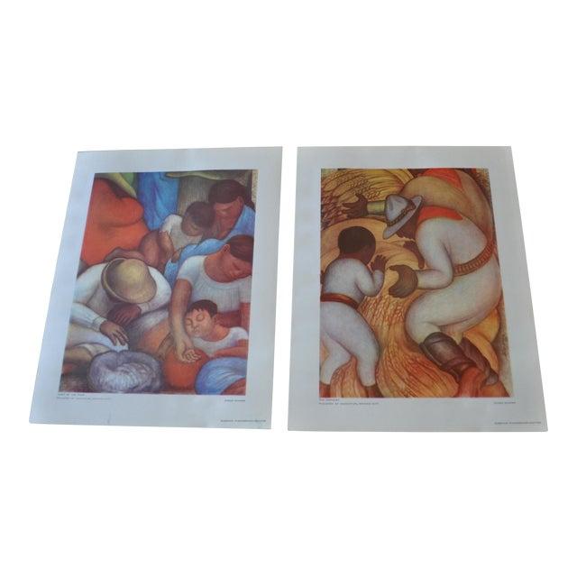 1948 Original Diego Rivera Prints - A Pair - Image 1 of 11