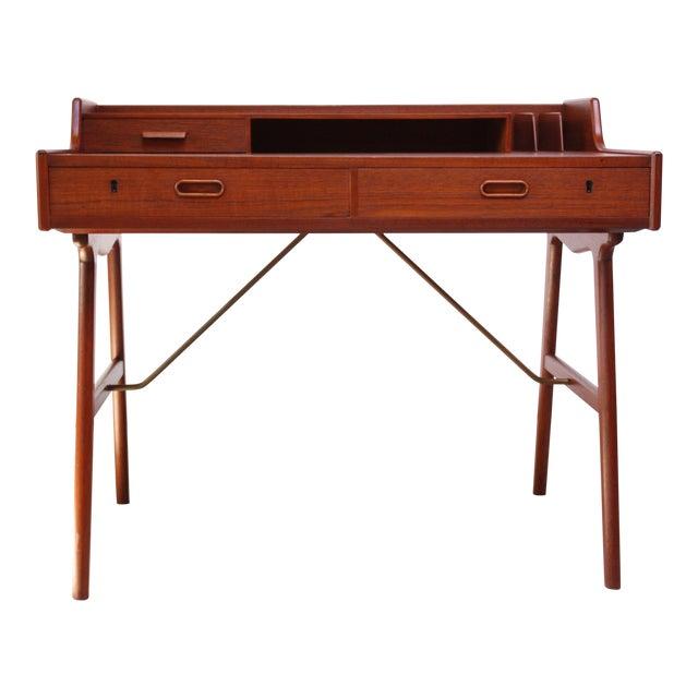 Teak and Brass 'Ladies' Desk by Arne Wahl Iversen - Image 1 of 13
