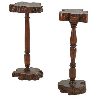 Pair of Naive Forest Tables For Sale