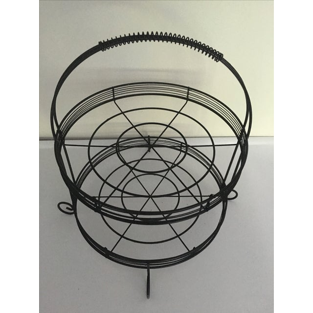 French Country Two-Tiered Wire Stand - Image 3 of 4