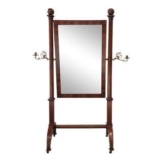 Antique Louis Philippe Mahogany Cheval Mirror