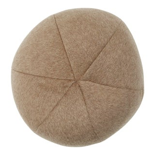 Schumacher Dixon Mohair Sphere Pillow in Driftwood For Sale