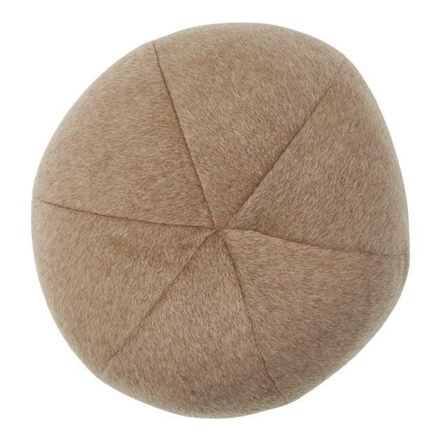 Schumacher Dixon Mohair Sphere Pillow in Driftwood For Sale