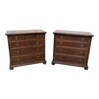 Henredon Wooden Bachelors' Chests - a Pair For Sale