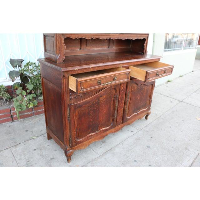 Antique Oak China Cabinet - Image 5 of 10 - Antique Oak China Cabinet Chairish