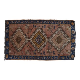 "Vintage Kurdish Mat Small Rug - 1'8"" X 2'11"" For Sale"