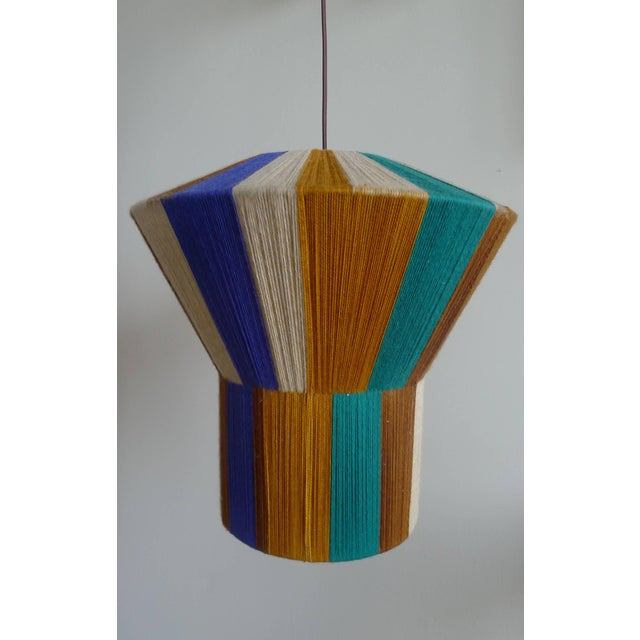 Customizable Paul Marra Hand-Dyed String Shaded Pendant - Image 7 of 8