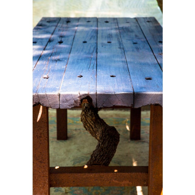 Wabi-Sabi Yakisugi Wood Dining Island Table Console For Sale - Image 4 of 11