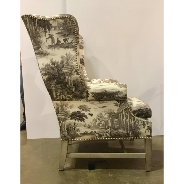 Shabby Chic Currey & Co. Kingswood Chairs - A Pair For Sale - Image 3 of 9