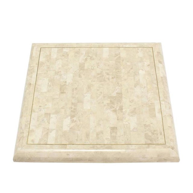 Contemporary 1970s Minimalist Tessellated Stone Coffee Table For Sale - Image 3 of 6