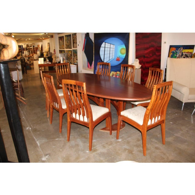 1990s Vintage Randy Bader Handmade Craftsman Dining Set- 9 Pieces For Sale In Palm Springs - Image 6 of 13