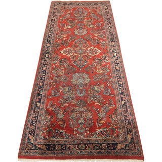 "Vintage Persian Sarouk Hand Woven Runner, 2'8"" X 6' For Sale"