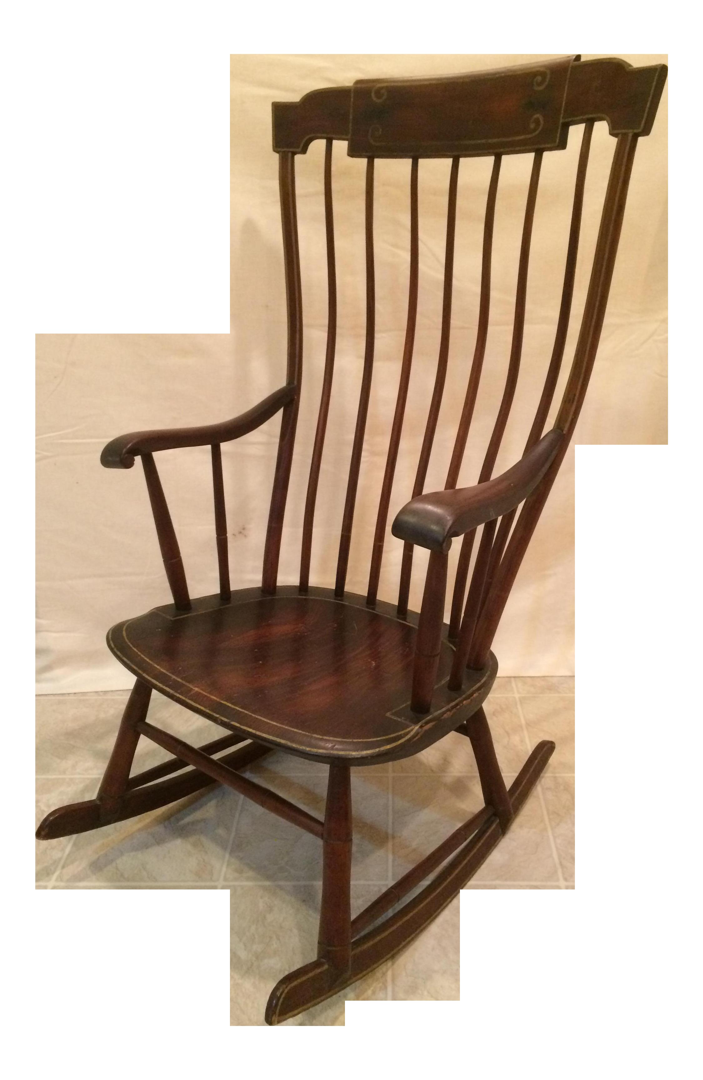 Antique Federal Period Boston Windsor Rocking Chair  sc 1 st  Chairish & Antique Federal Period Boston Windsor Rocking Chair   Chairish