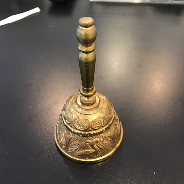 Vintage Brass Bell With Carved Animals - Image 2 of 8