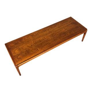 Lane Rhythm Mid-Century Modern Walnut Coffee Table ~ Longer Version