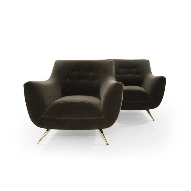 Henry Glass Lounge Chairs in Mohair - a Pair For Sale In New York - Image 6 of 13