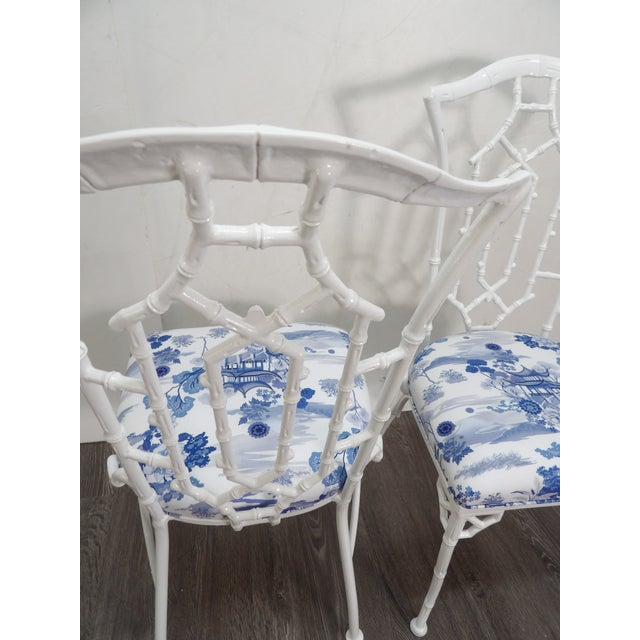 Mid 20th Century Vintage Chippendale Side Chairs- a Pair For Sale - Image 5 of 8
