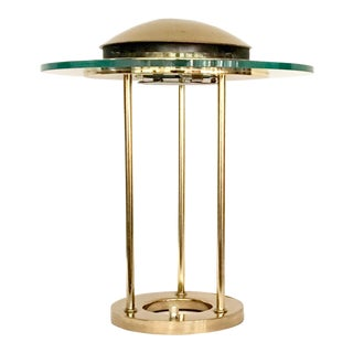 1970s George Kovacs Brass and Glass Desk Table Lamp For Sale