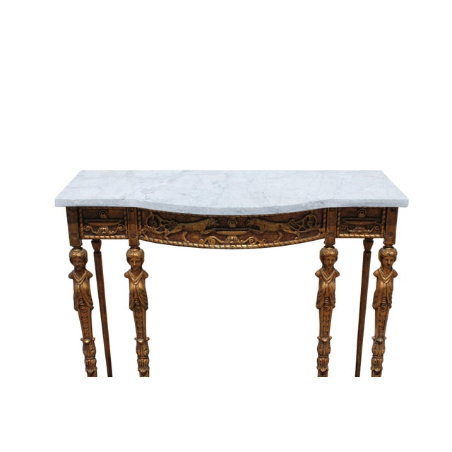 Iron 1920s Art Deco Marble Top Iron Table For Sale - Image 7 of 11
