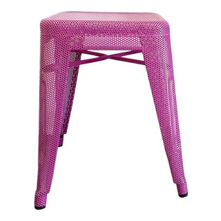 Tolix 45 Perforated Pink H Stool For Sale