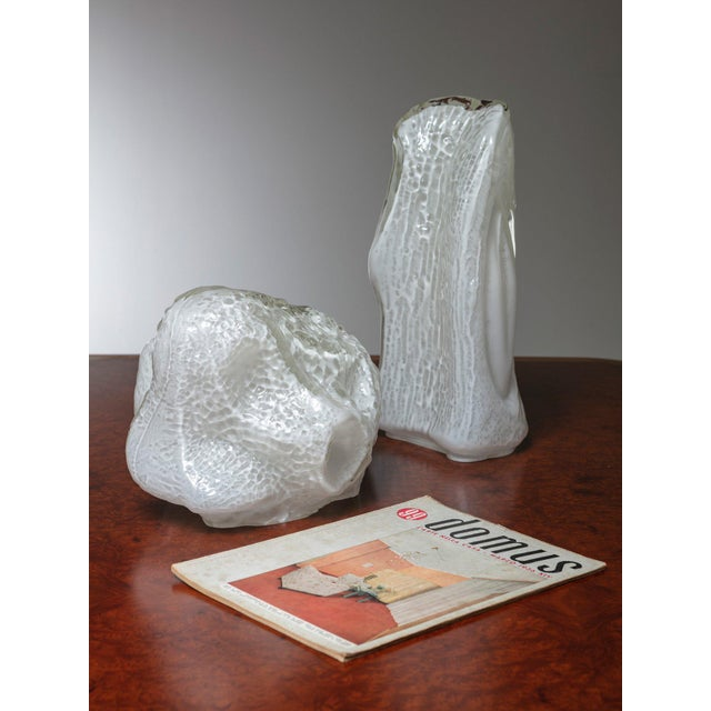 """Pair of """"Osso"""" Murano Glass Table Lamps by Mazzega For Sale - Image 6 of 7"""