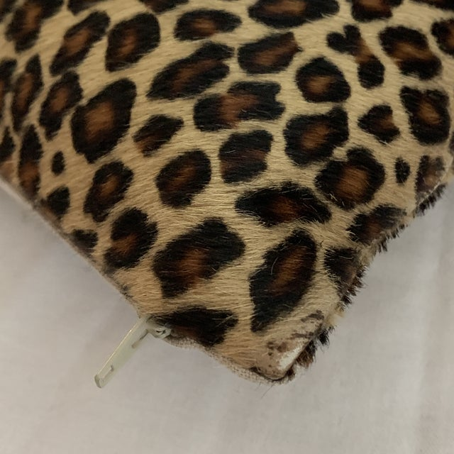 Leopard Pillow Cowhide Leather Pottery Barn For Sale - Image 10 of 11