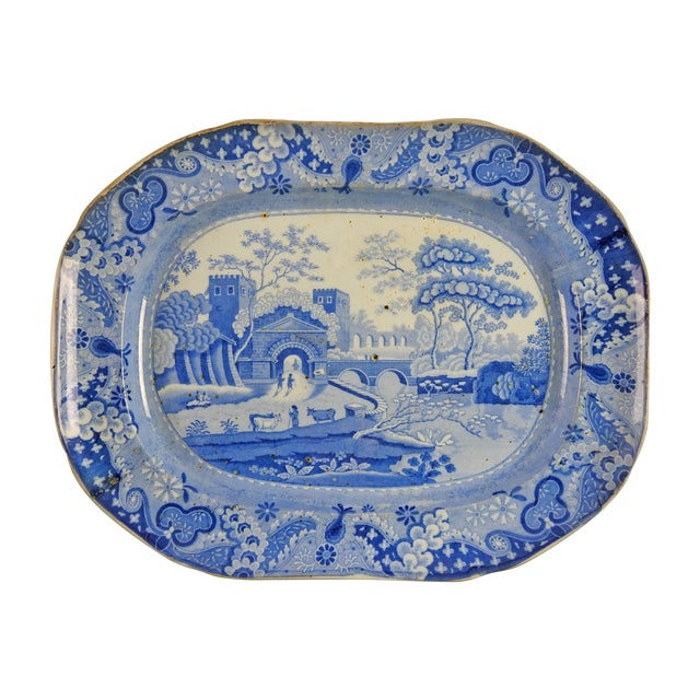 English Ironstone Transferware Platter - Image 1 of 4